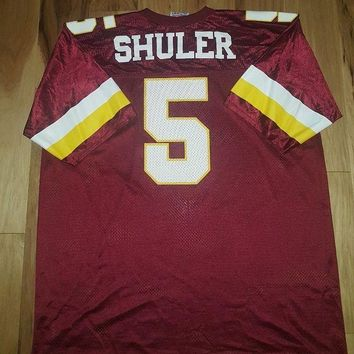 DCCKIN9 Vintage Heath Shuler #5 Washington Redskins NFL Logo 7 Jersey Adult 2XL 54-56