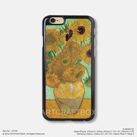Sunflower Van gogh painting Free Shipping iPhone 6 6 Plus case iPhone 5s case iPhone 5C case 158