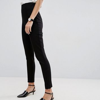 ASOS High Waisted Pants with Ankle Zips at asos.com