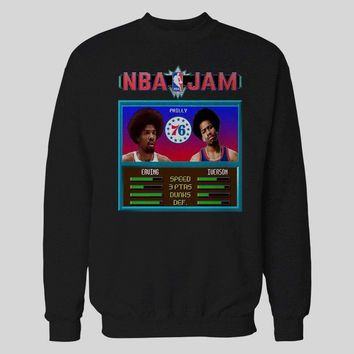 AFRO EDITION IVERSON & DR. J BASKETBALL VIDEO GAME JAM GAME PARODY BASKETBALL SWEATER / HOODIE