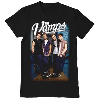 The Vamps Group Photo Junior's Black Tee