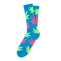 HUF - NEON PLANTLIFE SOCKS FALL14 // NEON BLUE