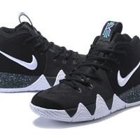 Best Deal Online Nike Kyrie 4 Ivring Black/White-Anthracite-Light Racer Blue Men Sneakers