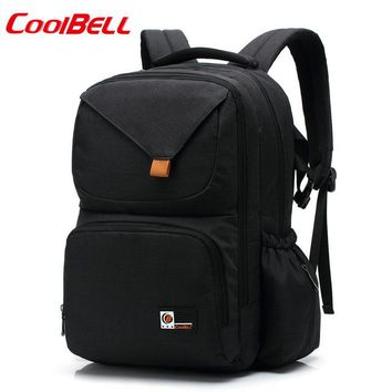Cool Backpack school COOLBELL NEW Multifunctional Mummy casual 15.6 inch computer bag Baby bottle diaper backpack Computer Leisure Travel Bag AT_52_3