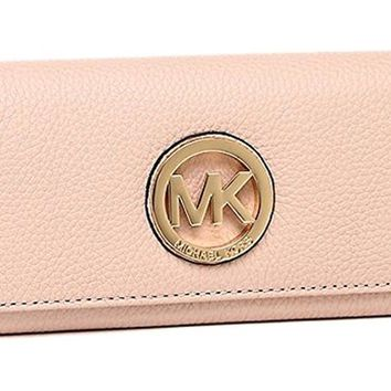 Michael Kors Women's Fulton Carryall Leather Wallet 32F2GFTE3L Christmas Special