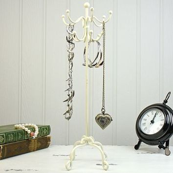 Cream Coat Stand Jewellery Holder