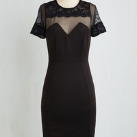 LBD Long Short Sleeves Sheath Emcee You There Dress by ModCloth