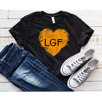 Let's Go Fly Heart Unisex Jersey Short Sleeve Tee