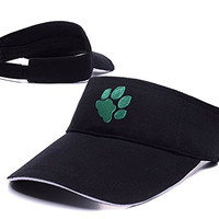 JIAQ Ohio University Bobcats Paw Visor Cap Embroidery Sun Hat Sports Visors