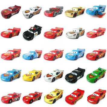 Disney Pixar Cars Gold Dinoco Blue Black Police Lightning McQueen Diecast Toy Car For Kids 1:55 Loose Brand New & Free Shipping