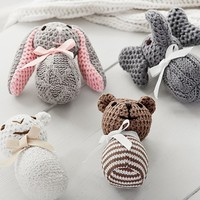 Knit Plush Animal Rattles