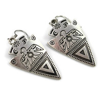 Native Thunderbird Earrings in Silver