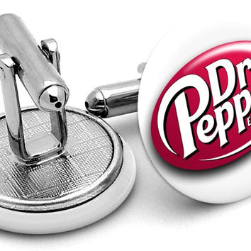 Dr Pepper Logo Cufflinks