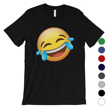 Emoji-Laughing Mens Funny Cute Silly Cool Halloween T-Shirt Gift