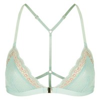 Two-Tone Lace Triangle Bra - Lingerie - Clothing