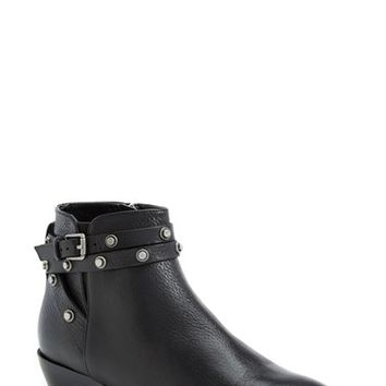 Women's Halogen 'Lidia' Studded Leather Ankle Bootie,