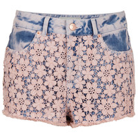 MOTO Pink Acid Crochet Hotpant - New In This Week - New In - Topshop