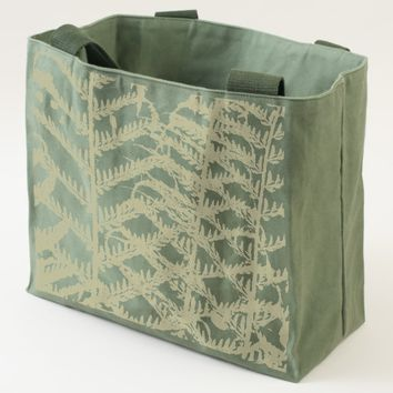 Fern Fronds Floral Pattern Tote