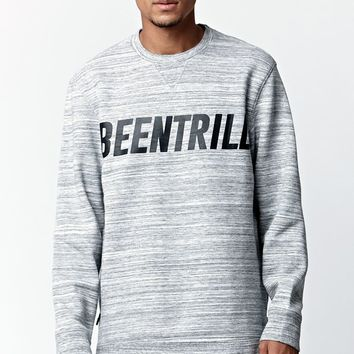 Been Trill ## Side Zip Crew Neck Sweatshirt - Mens Hoodie - Grey