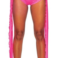 BodyZone Apparel 1207SL Hot Pink Long Tie Sides Booty Shorts Hot Pants Bikini Bottoms Sexy Go-Go Dancer Rave Stripper Apparel Outfits