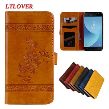 Cover For Samsung Galaxy J7 2017 J730 J730F Cases Retro High Quality Embossed PU Leather Case For J7 2017 Mobile Phone Shell