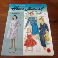 """Vintage May 1960 Edition of """"The Australian Home Journal"""" / Sewing Knitting Crochet / Retro Advertisements / Collectible / Love Advice"""
