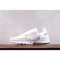 DCCK N169 Nike AIR PRESTO x Off-White Net Surfuce Breathable Running Shoes White