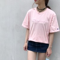 Champion Women Embroidery Logo Short sleeve T-shirt