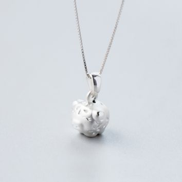 Cute brushed pig necklace + Gift box ALQ1024N