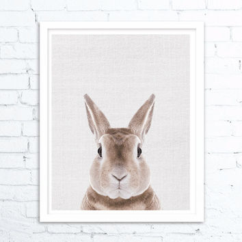 Rabbit Print, Nursery decor, Woodland Nursery Decor, Bunny Wall Art Print, Large Printable Poster,Rabbit Wall Art Print, Nursery Prints