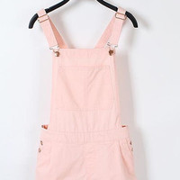 Pink Cotton Dungaree Shorts - In Plus Sizes Too