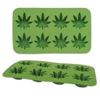 Cannabis Marijuana Pot Weed Leaf Shape Silicone Ice Cube Mold Mould Tray - Walmart.com