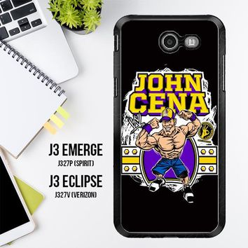 John Cena Cenation Cartoon V0479 Samsung Galaxy J3 Emerge, J3 Eclipse , Amp Prime 2, Express Prime 2 2017 SM J327 Case