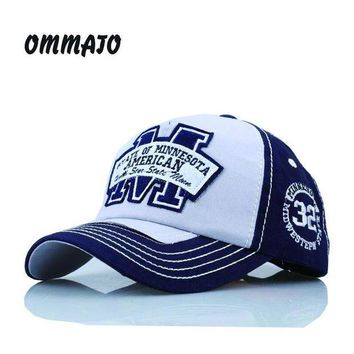 CREYCI7 [OMMATO] hot cotton embroidery letter W baseball cap snapback caps fitted bone casquette hat for men custom hats hip hop TST010