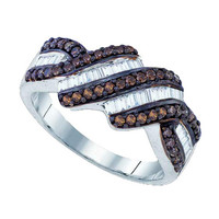 Diamond Fashion Ring in White Gold-plated silver 0.78 ctw