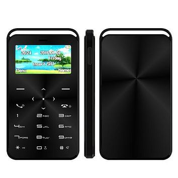 Small Size Card Mobile Phone GS6 Support Magic Voice and Bluetooth Dialer Functions Single SIM Card GSM Quad Band FM Radio