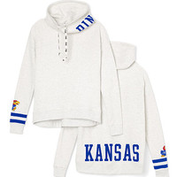 University Of Kansas Cowl-Neck Pullover - PINK - Victoria's Secret
