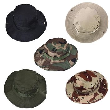 Outdoor Sports Men & Women's Fishing Hat Camouflage Bucket Hat Fisherman Camo Ripstop Jungle Bush Hats Boonie Military Unisex