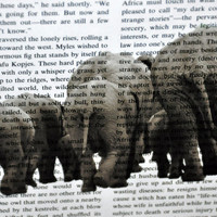 "Book Page Art-Herd of Elephants! Original Photography for Framing 8"" x 10"". Animal Print. Addo Elephant National Park. Upcycled Book Art"