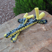 Puppy toy, Yellow and Grey Fleece Dog Tug Toy, Match Pair Dog Toy