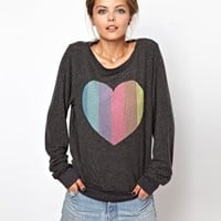 Wildfox Prism Heart Jumper at asos.com