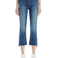MOTHERInsider Crop Step Fray Jeans in Not Rough Enough