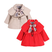 cute causal baby girl trench coat solid belt European style coat  for 9-24M babies newborn infantil outerwear coat clothes hot