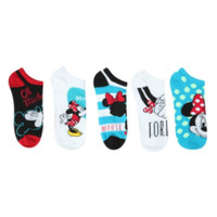 Disney Minnie Mouse No-Show Socks 5 Pair