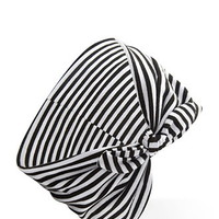 Striped Knotted Bow Headwrap