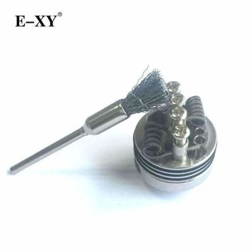 E-XY New Vapor Accessories Steel brush E-Cig DIY tools for RDA RBA Rebuildable Atomizer Tank Heating wire coils clean