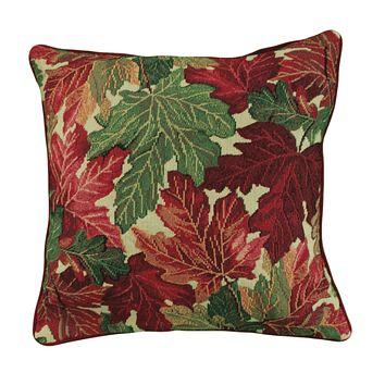Tache Warm Colorful Thanksgiving Leaves Fall Foliage Cushion Throw Pillow Cover (FF11516CC)