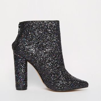 ALDO Fahlstrom Glitter Heeled Pointed Ankle Boots