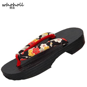 565898dda6d1 Women flip-flops 2017 women sandals wooden clogs pinch Japanese