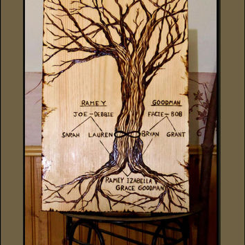Mens gifts, male gift ideas, wood burned plaques, mens art, man cave,Family tree,Pirates of the Caribbean